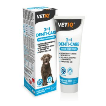 VetIQ 2 in 1 Denti-Care Toothpaste for Dogs and Cats 70g.